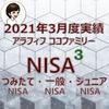 【NISA】楽天証券のNISA3つの口座2021年3月度実績