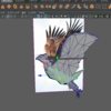 雑談 Mayaで鳥っぽいものを作った。