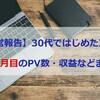 【運営報告】30代ではじめたブログ7ヶ月目のPV数・収益などまとめ