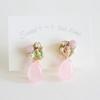 「薄桃色の季節」刺繍ビジューピアス・イヤリング。着用写真もご紹介しますね!