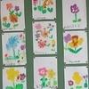 1年生:図工 花の絵を描く