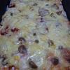 週末ランチ 東芝石窯オーブンで焼いた嫁特製の鉄板具沢山ピザ より。
