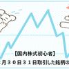 【国内株式初心者】2021年8月30日31日取引した銘柄の記録