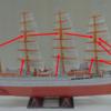 張り線の説明を書いていたつもりがついウッカリ 帆船「日本丸」ペーパーモデルアート その10