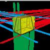 11.ガイド線を想像して描きましょう。底マチが広がっているバッグ本体の描き方