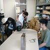 研究室でのテレビ収録