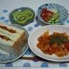 野菜サンド&ウィンナーケチャップ炒め