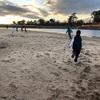 乙川で砂浜トレーニング