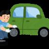 車のタイヤをスタッドレスに交換してついでに洗車をしました
