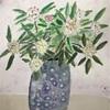 今日の水彩画は花