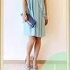 夏のおすすめドレス(シフォンパール付きドレス)