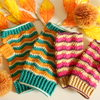かぎ針編みのハンドウォーマーの編み図と作り方