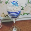 ワイングラスで作ってみました