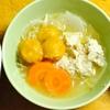 【冬至】取り分け離乳食にも。米粉のかぼちゃ団子と鶏団子のお鍋。