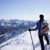 薬師岳で雪と戯れる