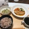 鶏胸肉の照り焼き (夕飯)