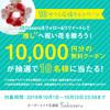 1万円分のクーポンが当たる、Twitterキャンペーンを開催中です!(追記:終了しました!ありがとうございました!!)