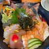 福岡県粕屋郡志免町、「海鮮一八」で満足!海鮮丼大盛りランチおじさん。