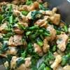 鶏肉と菜の花のドライカレー風