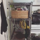 4つめの社宅 キッチン③スチールラック収納
