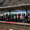 長良川鉄道のラッピング列車を見に郡上八幡駅へ。
