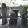 田名八幡宮の伝説 ばんばあ石とじんじい石とめかけ石(相模原市中央区)
