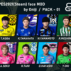【English Page】(PC / Steam)PES2021 face pack by Oniji vol.1 Release!
