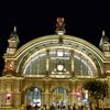夜が素敵なフランクフルト中央駅