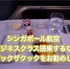 シンガポール航空のビジネスクラスの食事を事前予約「ブックザクック」での機内食事前予約がお勧め