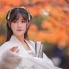 上海嘉定の秋霞圃で紅葉ポートレート-人がたくさん。そしてストロボが。。。