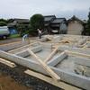 鉾田市新築工事 土台敷き