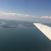 笠岡→八尾 小型飛行機フライトの旅(岡山ー兵庫ー大阪)