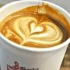 築地の「ターレットコーヒー」でオーツミルクのラテ。