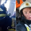 飛び降り自殺する女性を素手で捕った消防官