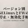 CenetOS(RHEL)バージョン別SELinuxとファイアウォールの停止・無効化手順