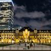 会社帰りに東京駅の夜景を撮影するという贅沢