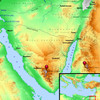 新改訳2017の地図に注文…シナイ山の位置