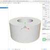 iOS で SceneKit を試す(Swift 3) その29 - ビルトインジオメトリ SCNTube(チューブ型)