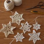 編み図あり|編み方解説はYouTubeで!|冬になったら編みたい雪の結晶モチーフ