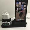 【レビュー】aphquaの充電スタンドならiPhoneとAppleWatch、AirPodsがスタイリッシュに収納できるぞ!