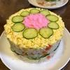 ひなまつりはちらし寿司!100円ショップのケーキ型でちらし寿司ケーキを作りました。