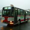 国道9号線を通るバス(山口県中部)