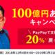 PayPayでiPad mini4を買った。20%キャッシュバック+1%ポイント。