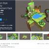 【無料化アセット】カートゥーン調の高品質なファンタジー地形キューブの素材、全515種類の大ボリューム! 自然素材、家屋、遺跡などローポリゲーム開発に最適な3Dモデル「Cartoon Style Fantasy Environment Pack」