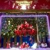 梅田阪急百貨店クリスマスディスプレイと光のヒンメリ