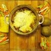 【豪快】ル・クルーゼ鍋ごとオニオングラタンスープの簡単レシピ