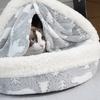 【猫の冬支度】ひょっこりはん!?猫のかまくらベッド