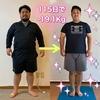 115日で体重『19.1kg』ダウンへ成功♡