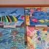 2年生:教室の前に絵の展示