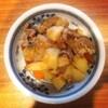 鯖カレー、肉じゃが、枝豆かき揚げ